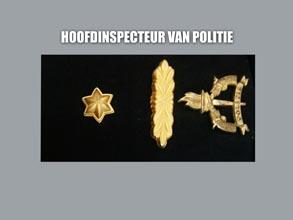 HOOFD INSPECTEUR VAN POLITIE new