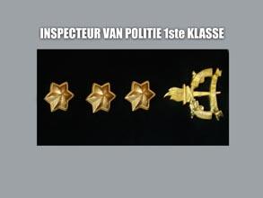 INSPECTEUR VAN POLITIE 1E KLASSE new