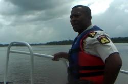 KC op de boot